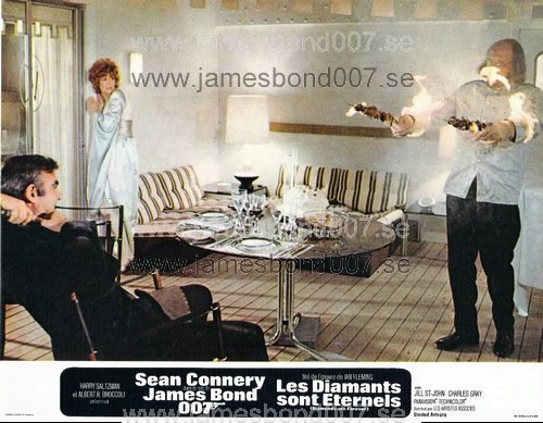 Sir Sean Connery, Jill St. John och Putter Smith Färg, set B
