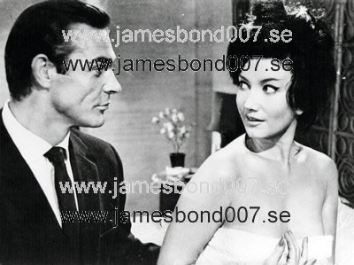 Sir Sean Connery and Zena Marshall Black and white