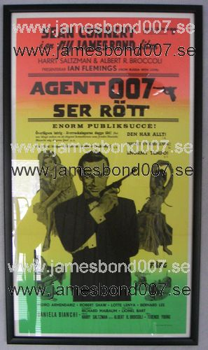 Agent 007 ser rött (From Russia with Love) Reproduktion, 30x70 cm