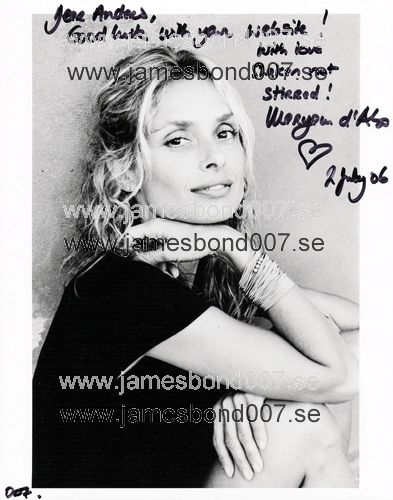 Maryam d'Abo Black and white