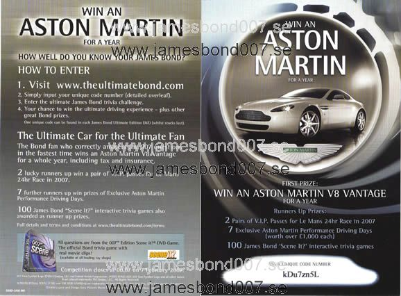 Win an Aston Martin V8 Vantage Original