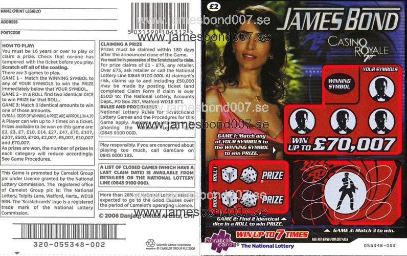 James Bond CASINO ROYALE Original, nr 055348-003
