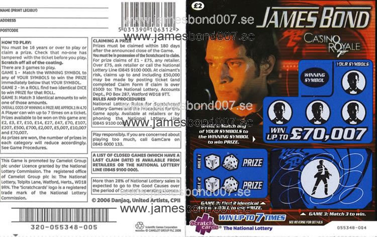 James Bond CASINO ROYALE Original, nr 055348-004