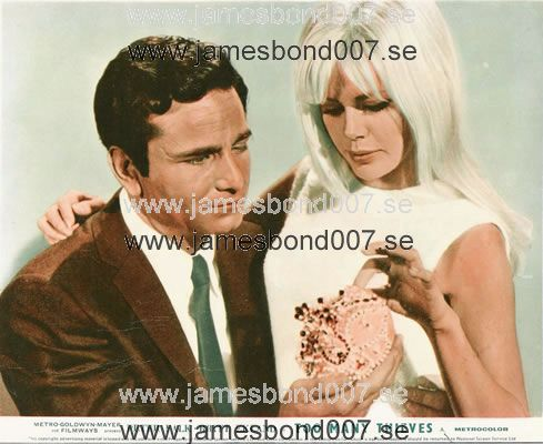 Britt Ekland, pictured with Peter Falk Colour