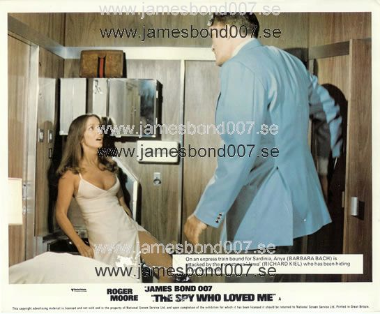 Barbara Bach and Richard Kiel Colour