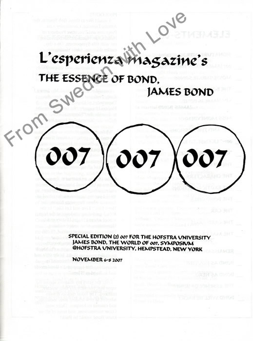 L'Esperienza Magazine's the Essence of James Bond