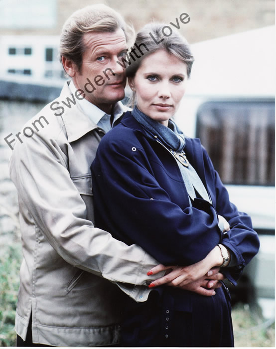 Sir Roger Moore and Maud Adams