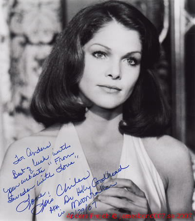 Lois Chiles From Sweden with Love