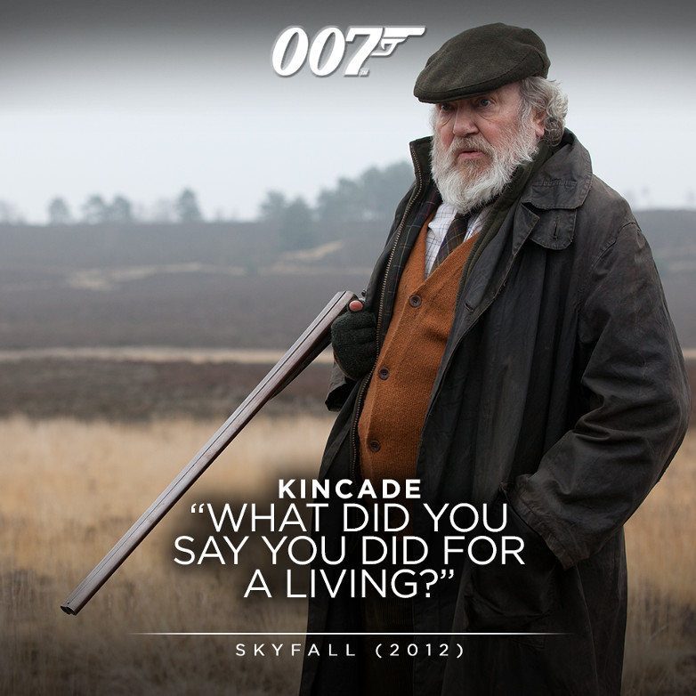 Albert Finney as Kincade in Skyfall