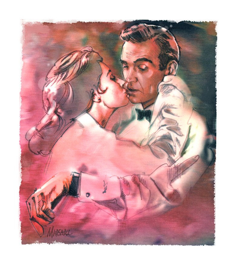 Eunice Gayson Sean Connery Dr No Jeff Marshall artwork