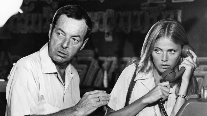 Guy Hamilton and Britt Ekland on the set of The Man with the Golden Gun in Thailand