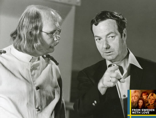 Guy Hamilton and Putter Smith on the set of Diamonds Are Forever