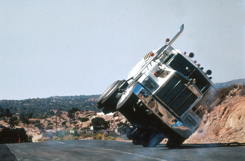Licence To Kill truck driving stunt
