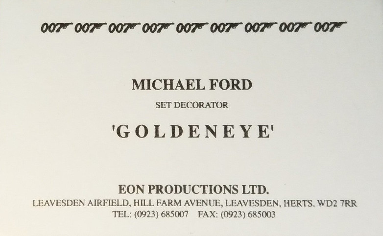 EON Productions business card