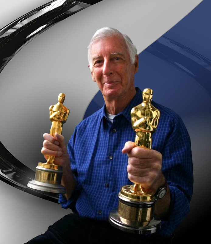 Michael Ford with his two Oscars