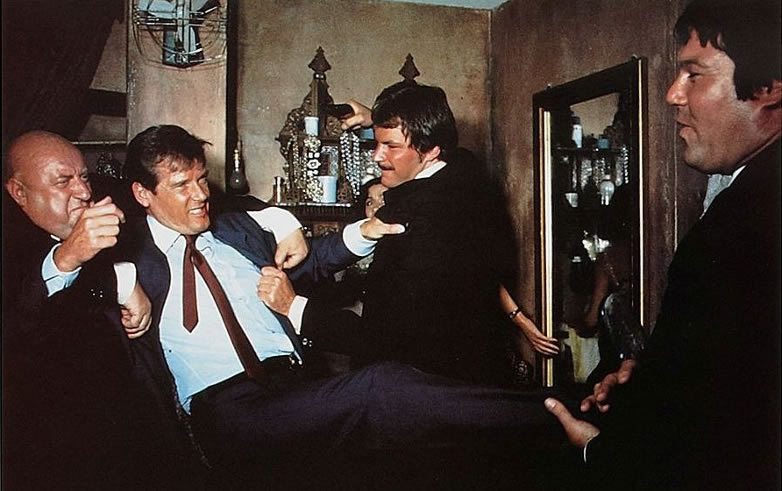 Rocky Taylor with Roger Moore on The Man with the Golden Gun