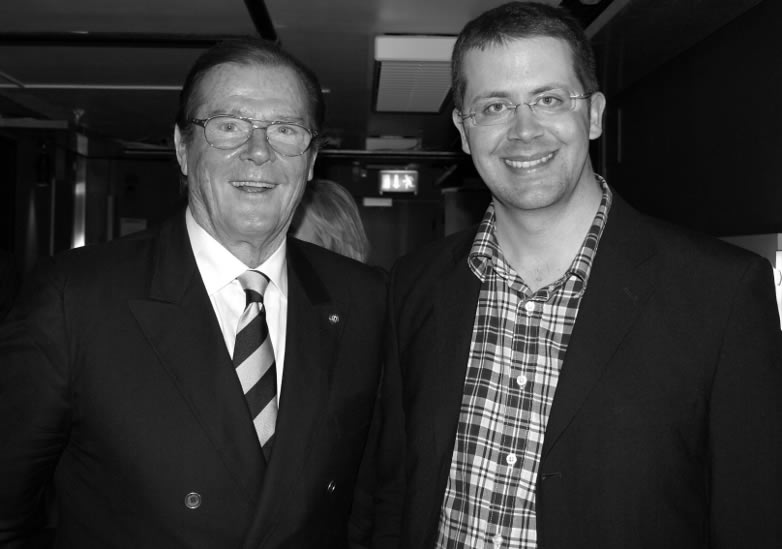 Anders Frejdh and Roger Moore