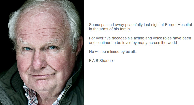 Shane Rimmer family message