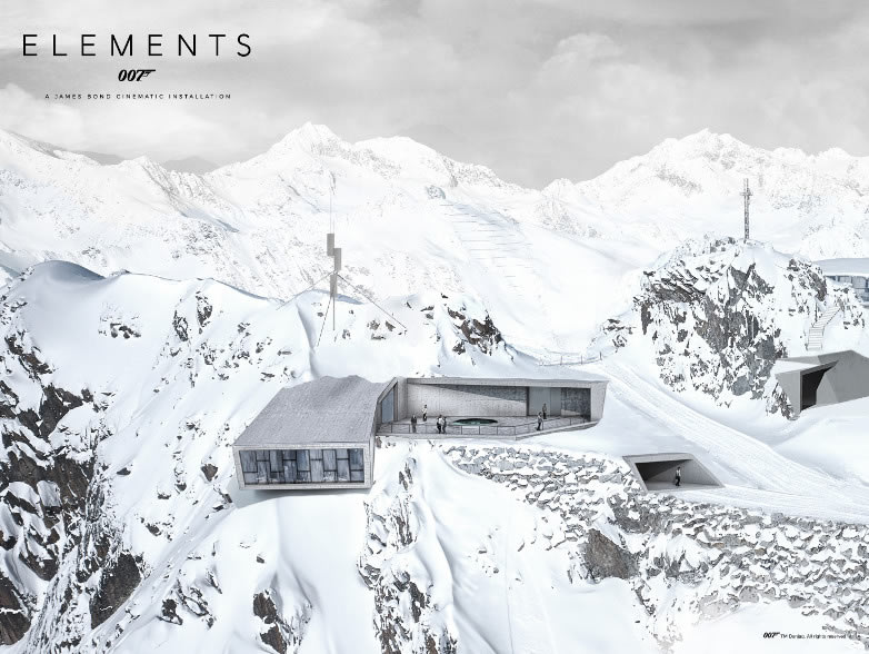 007 Elements cinematic installation Solden