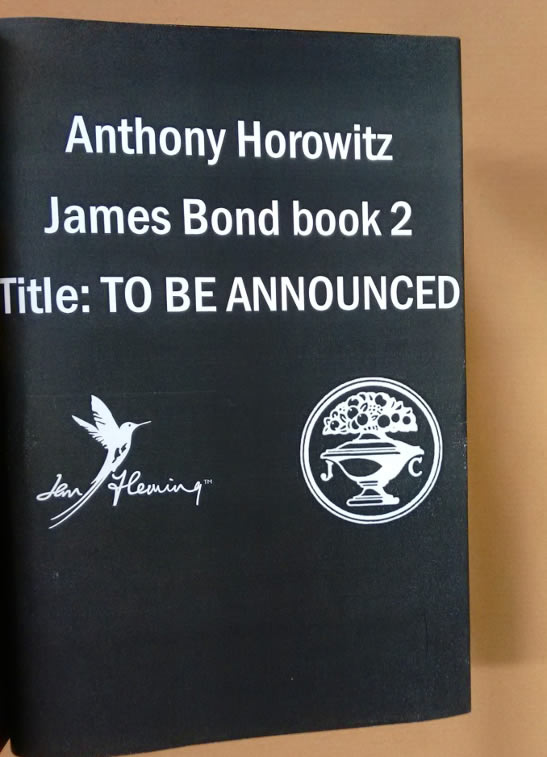 Anthony Horowitz James Bond