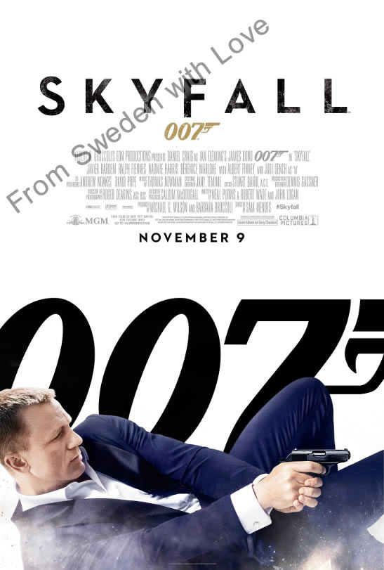 Skyfall US one sheet poster