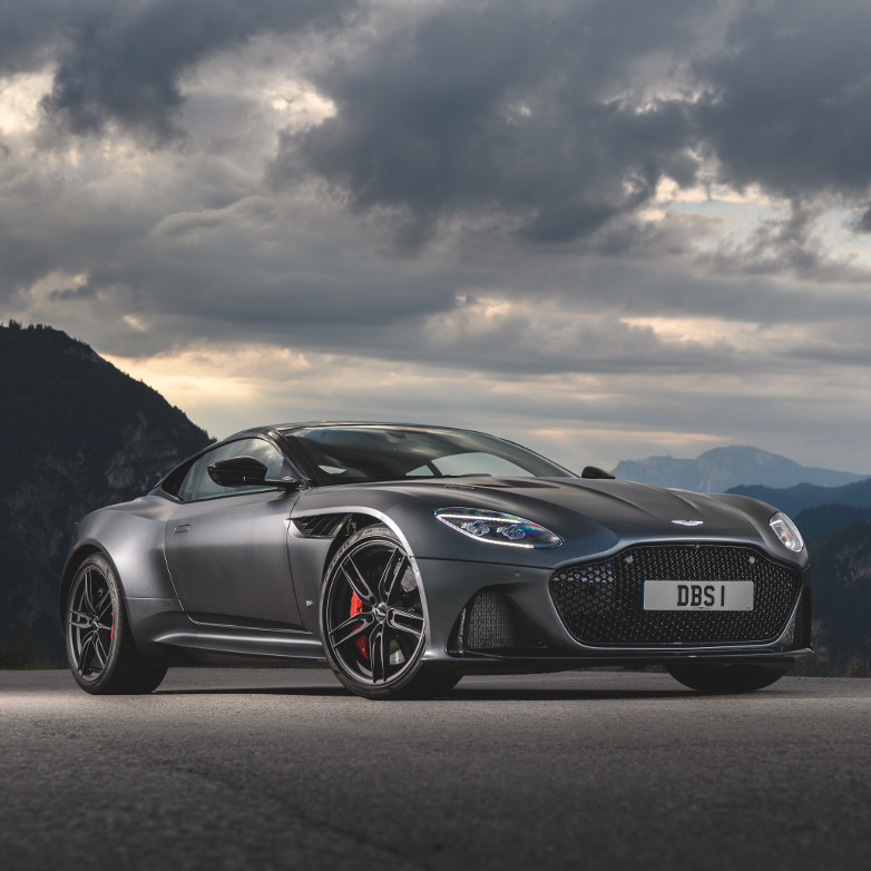The Aston Martin DBS Superleggera model in No Time To Die