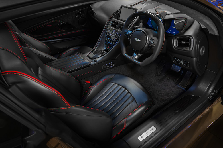 Aston Martin DBS Superleggera On Her Majesty's Secret Service interior