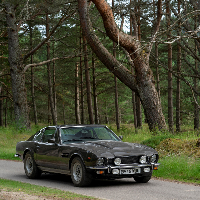 The Aston Martin V8 Vantage model in No Time To Die