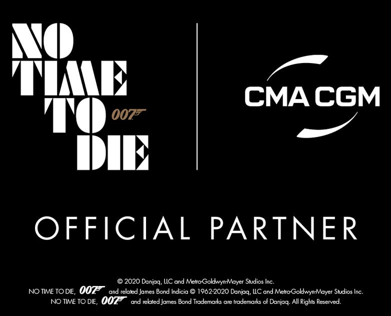 CMA CGM official No Time To Die partner