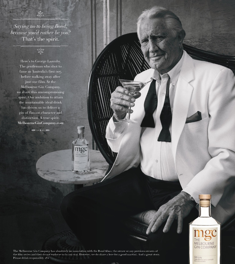 George Lazenby The Melbourne Gin Company