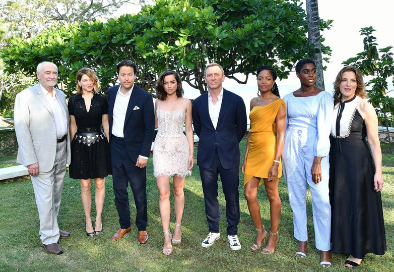 Bond 25 cast members at Goldeneye in Jamaica