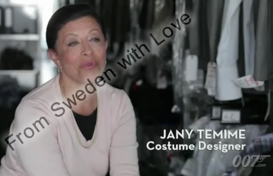 Jany temime on dressing 007 for action