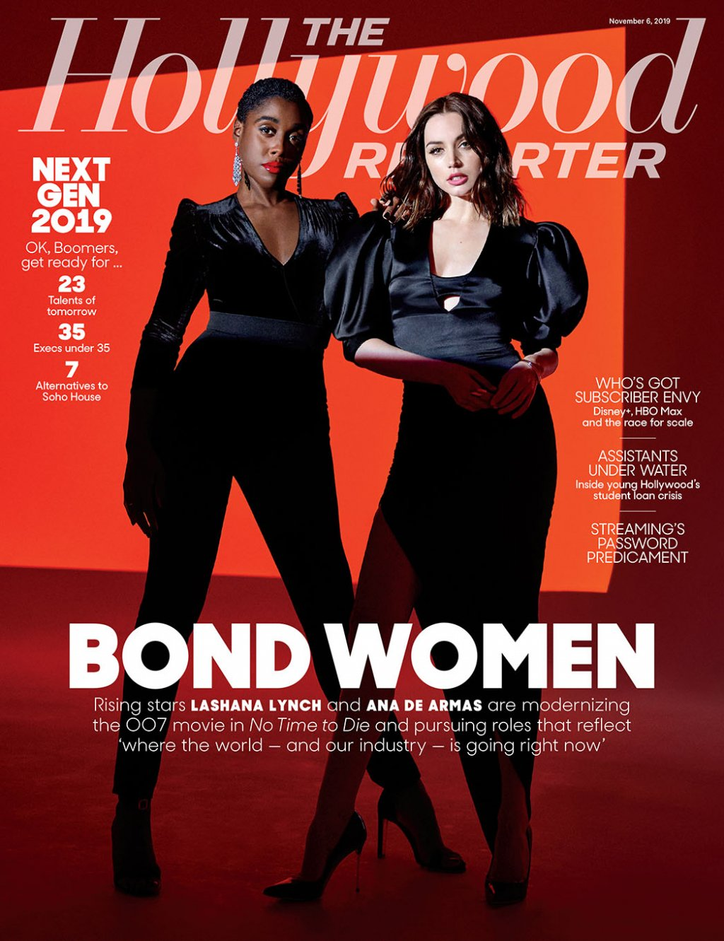 Lashana Lynch Ana de Armas Hollywood Reporter