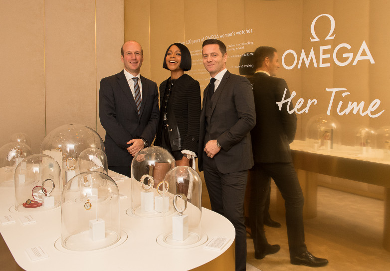 Naomie Harris Omega pop up shop New York