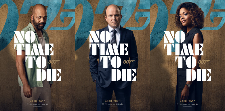 Jeffrey Wright as Felix Leiter, Rory Kinnear as Tanner and Naomie Harris as Moneypenny in No Time To Die