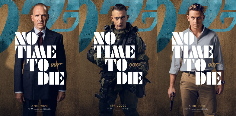Ralph Fiennes as M, Dali Benssalah as Primo and Billy Magnussen as Logan Ash in No Time To Die