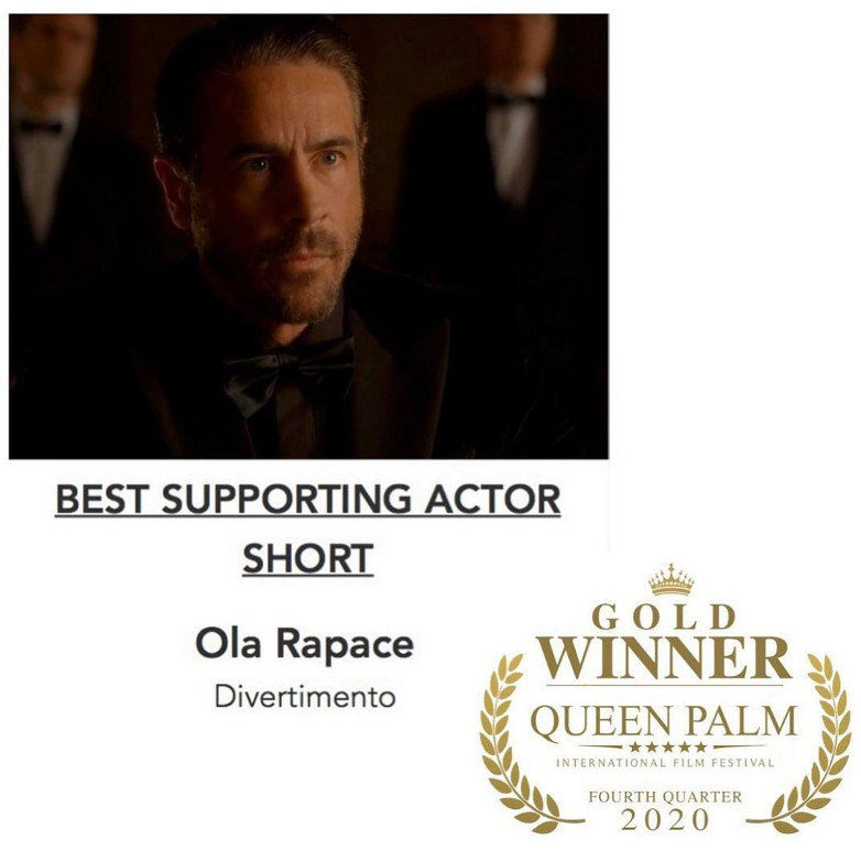Ola Rapace Best Supporting Actor Divertimento