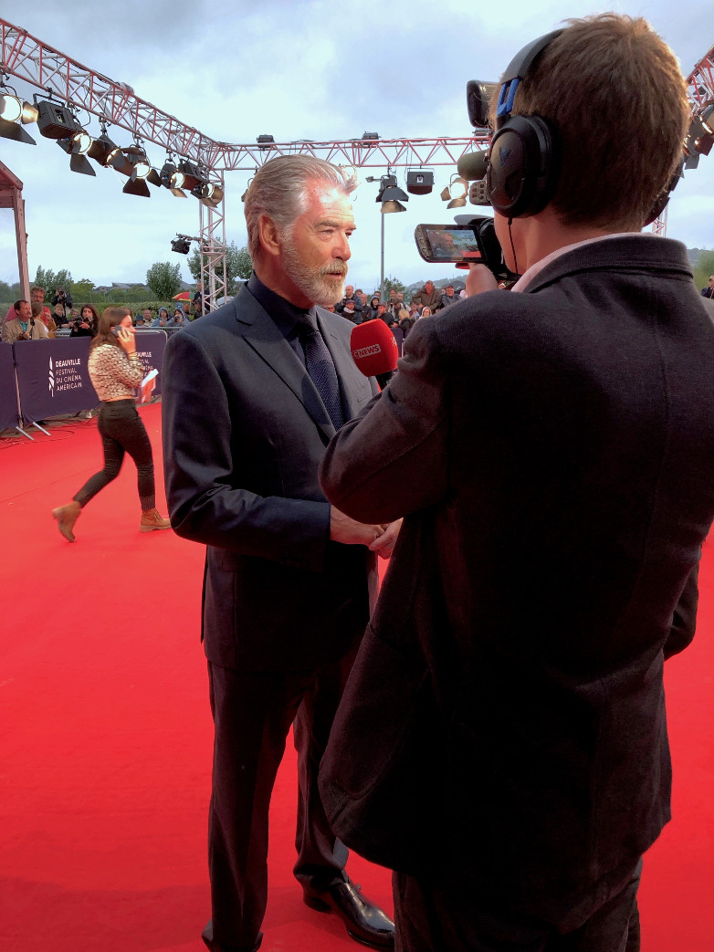Pierce Brosnan on the red carpet in Deauville 2019