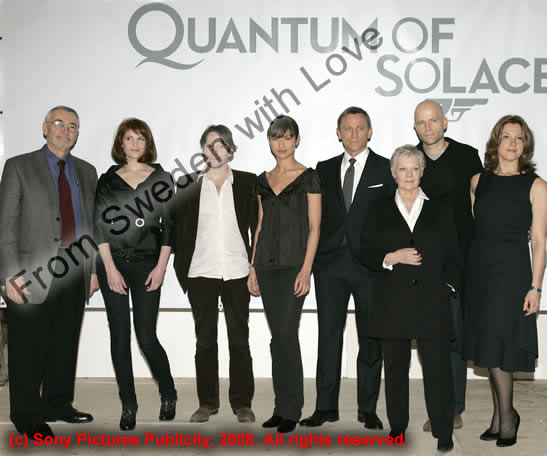 Quantum of Solace press conference Pinewood Studio