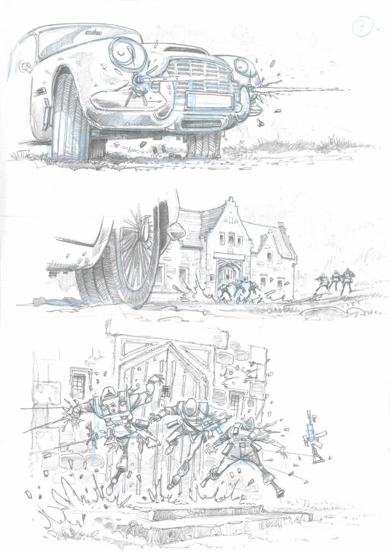 Skyfall lodge attack storyboard Jim Cornish