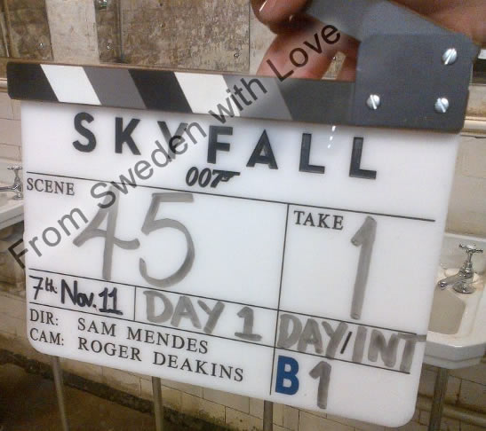 Skyfall officially filming