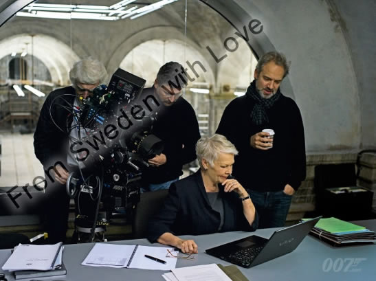 Skyfall on set with sam mendes