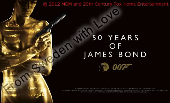 50 years of Bond poster