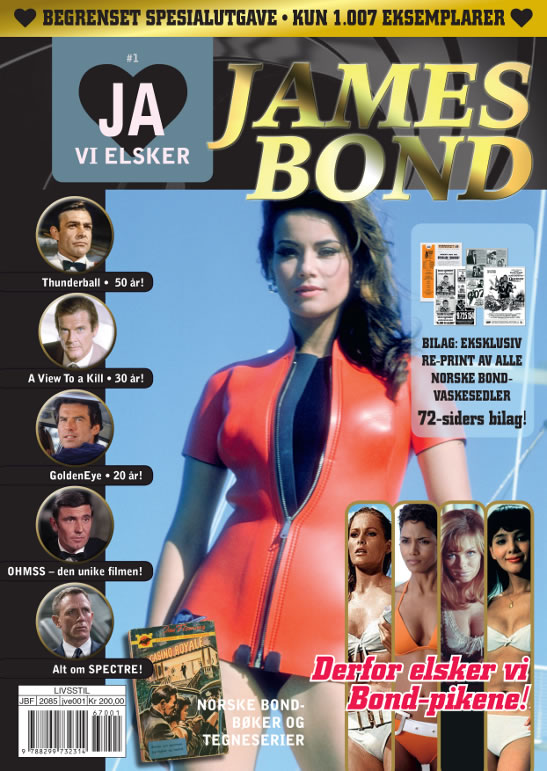 Ja Vi Elsker James Bond special Norwegian book