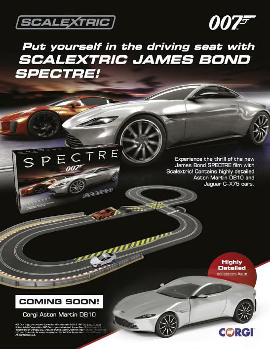 Scalextric James Bond SPECTRE racing set