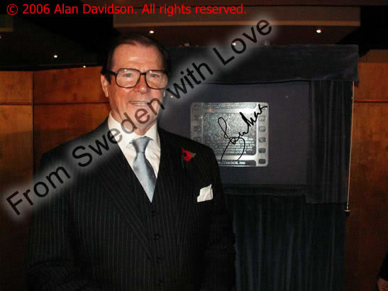 Sir Roger Moore limited edition canvas print