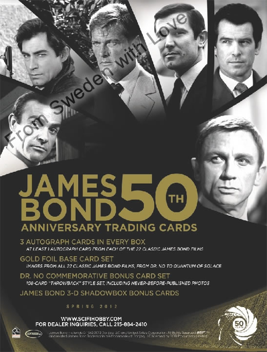 Bond50th trading cards rittenhouse