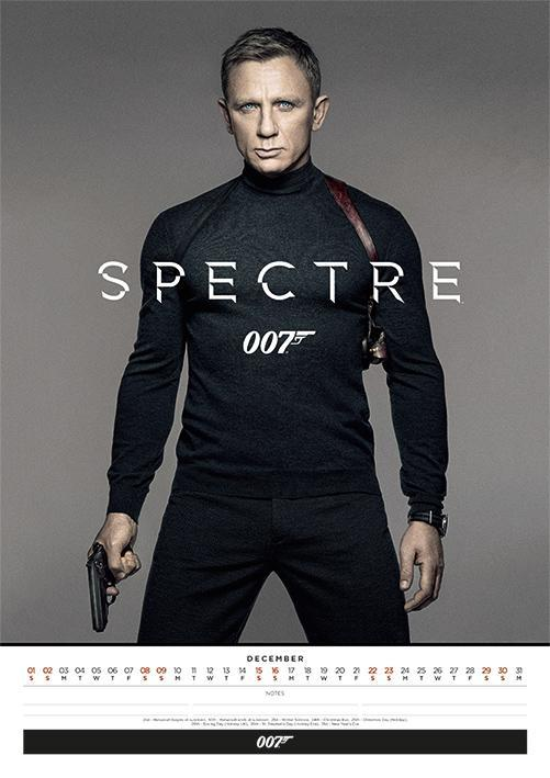 Daniel Craig James Bond 2018 Calendar