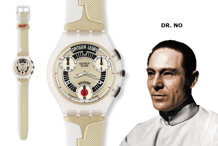 Dr No Swatch watch James Bond Villain series