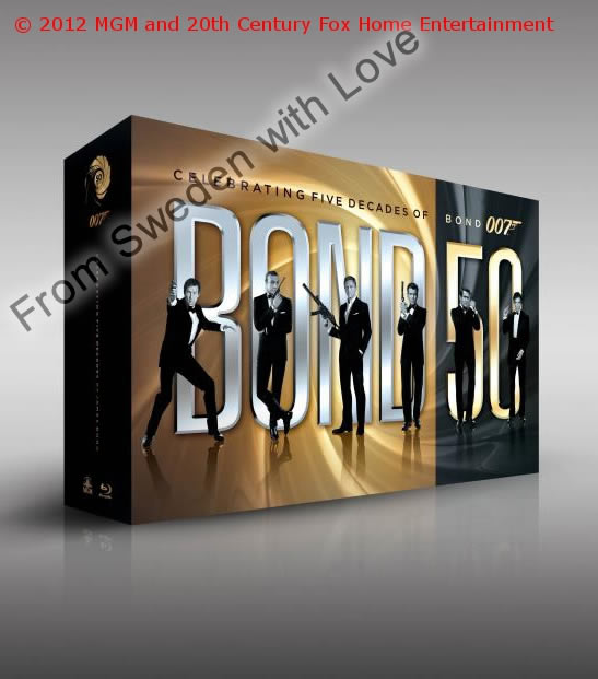 James bond blu ray set 2012
